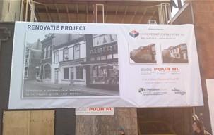 Verbouw winkel en appartement